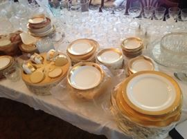 Nice set of gold rim china