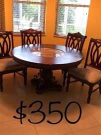 Above 5-piece dinette set like new. Price in the picture has been reduced from.         $ 350.00 to only $ 250.00