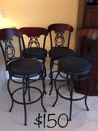 Above breakfast bar stools like new asking $ 150.00