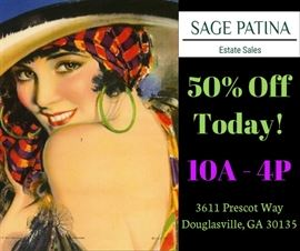 SAGEPATINAEstateSales_ Douglasville_50% Off Today!