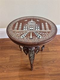 Ornate Side Round Table.