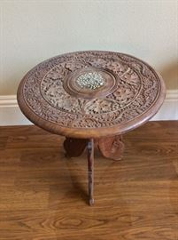 Ornate Round Side Table.