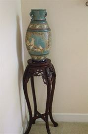 wood carved table stand