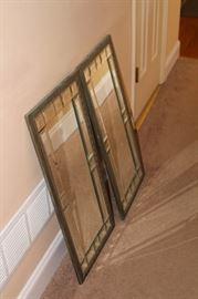 Set of beveled wall mirrors