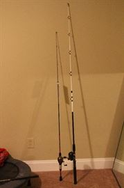 Shakespeare reverb fishing poles with tags