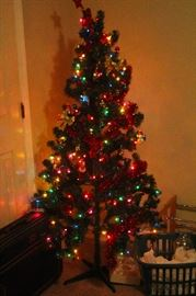 "72"" artificial pre lit christmas tree"