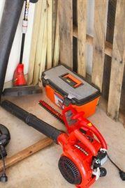 toolbox, leaf blower