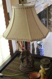 Iron Elephant Base Lamp with shade