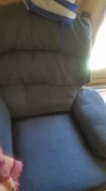 blue recliner good condition