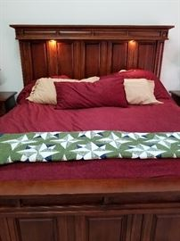 king platform bed with mattress