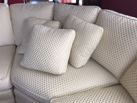 Design of fabric on upholstered sofa