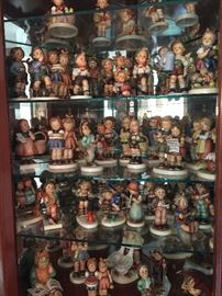 Large selection of Hummel collectibles