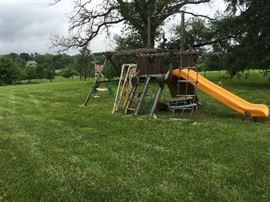 SWING SET, JUNGLE GYM