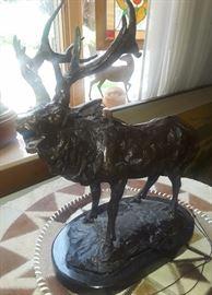 """Bronze Sculpture """"Elk"""" Artist: Barye"""