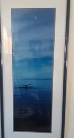 """Framed Photographic Art Limited Edition """"Whale Tail""""  Artist: Thomas Mangelsen"""
