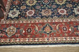 Spectacular area rug made in India, approx 10' x 14' !!