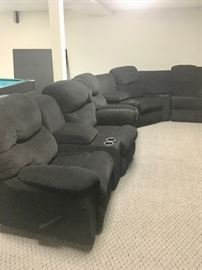 Reclining theater chairs