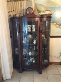 Gorgeous glass and wood china cabinet