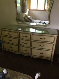 many dressers and chests