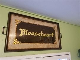 Mooseheart painted glass tray