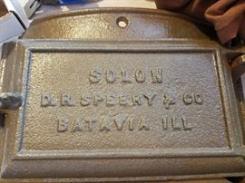 D.R. Sperry furnace cover