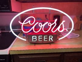 VINTAGE lighted coors sign!
