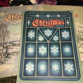 Collection of 1940s and 1950s Christmas annuals.