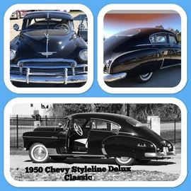 1950 Chevy Styleline Delux Classic- Restored.  The Car will be available to see on the second week of the sale.  Week two will have tons of tools & property items.