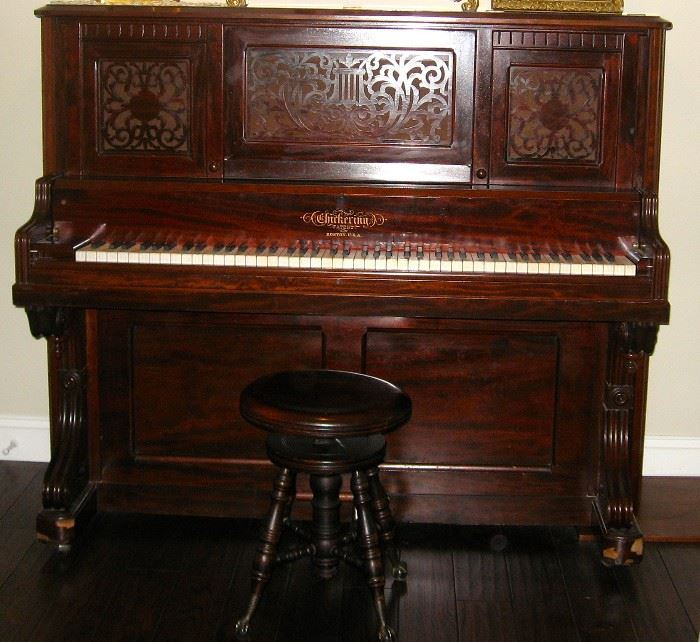 Fully restored 1880's Chickering Piano $22,000.00