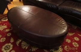brown leather ottoman Thomasville