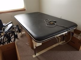 Electric therapy table, $75