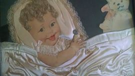 VINTAGE 1920'S BABY FRAMED PICTURE