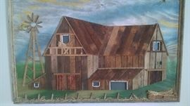 **COUNTRY*** WOOD-SHAKE BARN PICTURE