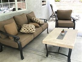 Patio Sofa and Chair