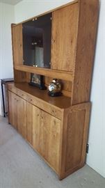 $100   Wood china cabinet