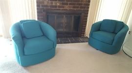 $40  each Teal swivel chair