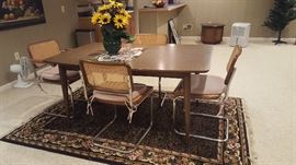 $50   Wood oblong table    $60  four cane back chairs CHAIRS SOLD