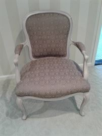 Custom reupolstered French style chair