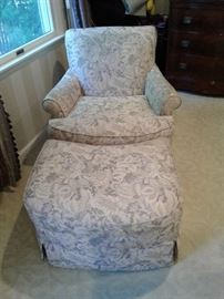 Another lovely chair with ottoman