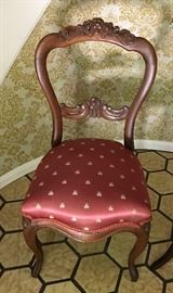 Pair of Mahogany Rose Carved Victorian Chairs, Pre-sale Available $58 for pair