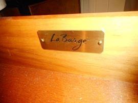 La Barge Name Plate