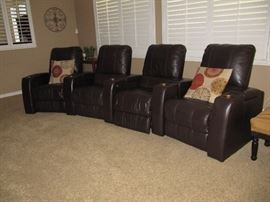 electric reclining leather theater seats