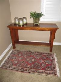 Bassett oak sofa table
