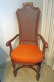 One of two dining set arm chairs