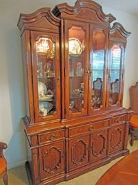 matching lighted china cabinet by Thomasville