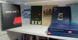 Yearbooks from VMI, USAFA, and other schools (ca 1940's to 1950's).  Math books, novels, and more