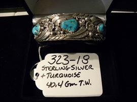 Sterling Silver & Turquoise Bracelet