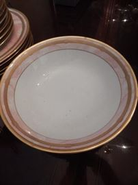 Beautiful china with gold trim by Christian Dior.