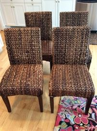SET OF 4 WOVEN Sea Grass CHAIRS, Pottery Barn