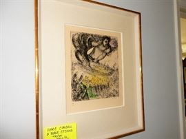 Chagall: Prise de Jerusalem (The Capture of Jerusalem), Known date 1956, References Cramer 30, Verve N.101. Etching with watercolor tinting.  Edition 46/100. To purchase please contact Jeanette at 224.578.1846   BUY IT NOW $6,000.00
